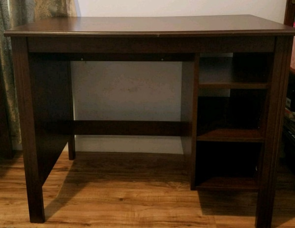 Wooden IKEA study table