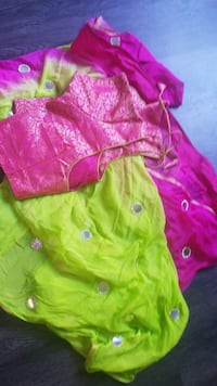 toddler's green and pink dress Roselle, 60172