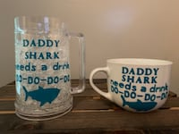 Daddy shark beer stein and mug  Langley, V2Y 0B4