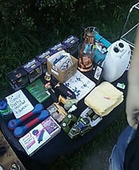 yard sale set up