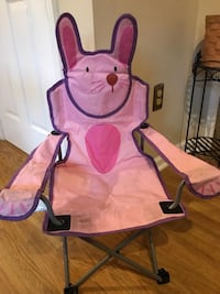 Pink and black camping chair