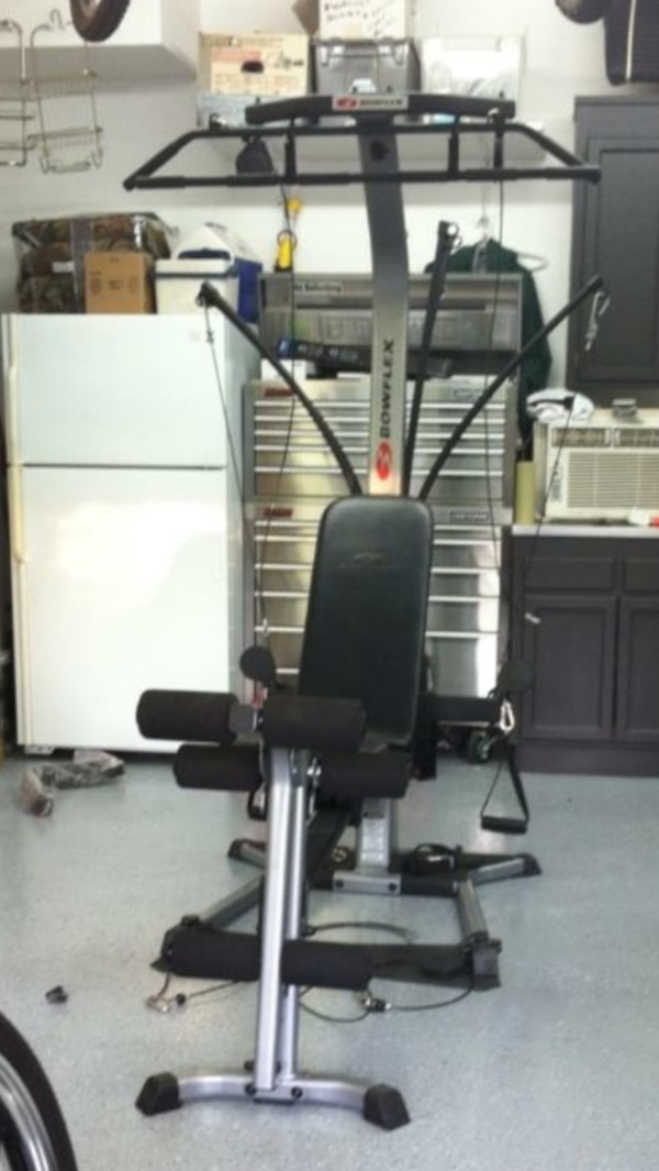 used black and gray bowflex lat pulldown pulley for sale in windsor