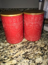 Two red kitchen jars! Temple Hills, 20748