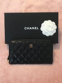 Brand new Chanel classic long zipped wallet