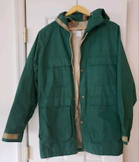 L.L. Bean rain gear.  Women's Size S can easily fit M  Chantilly, 20152