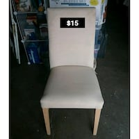 Cream colored padded chair Colton, 92324