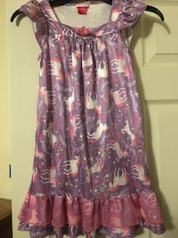 adorable unicorn nightgown girls 7/ 8 New Cumberland