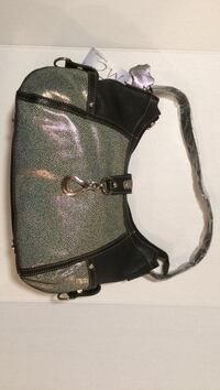 black and grey leather shoulder bag Poughkeepsie town, 12601