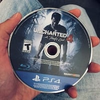 Uncharted 4- A thief's End PS4 game case. Toronto, M9V 4H9
