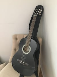 black and white classical guitar with black case Riverside, 92503