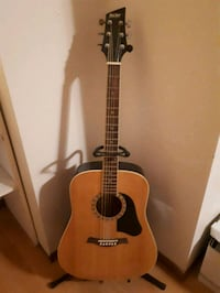Guitar with  guitar stand