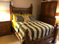 5 piece Queen size bedroom set. Mattress and box included. Must pick up. Springfield, 22152