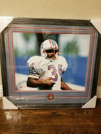 Earl Campbell signed autograph picture frame Houston, 77007