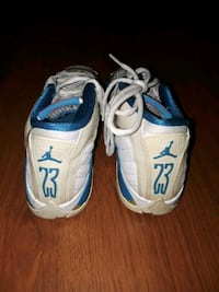 pair of blue-and-white Nike running shoes Pittsburg, 94565