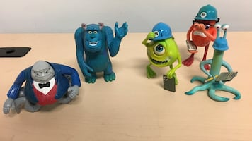 Monster Inc. plastic toys