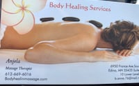 Body healing services business card