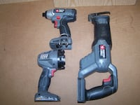 3Pc Porter Cable 18v tools, w/chrg and battery Carroll County, MD, USA
