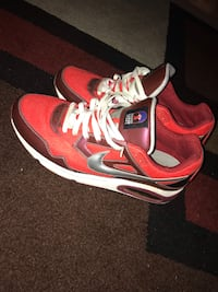 Red and Maroon air maxes  Mississauga, L4X 2M8
