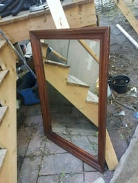 brown wooden frame wall mirror Lachine, H8S