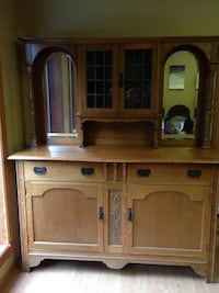Antique oak dining room hutch Colwood, V9B 1X5