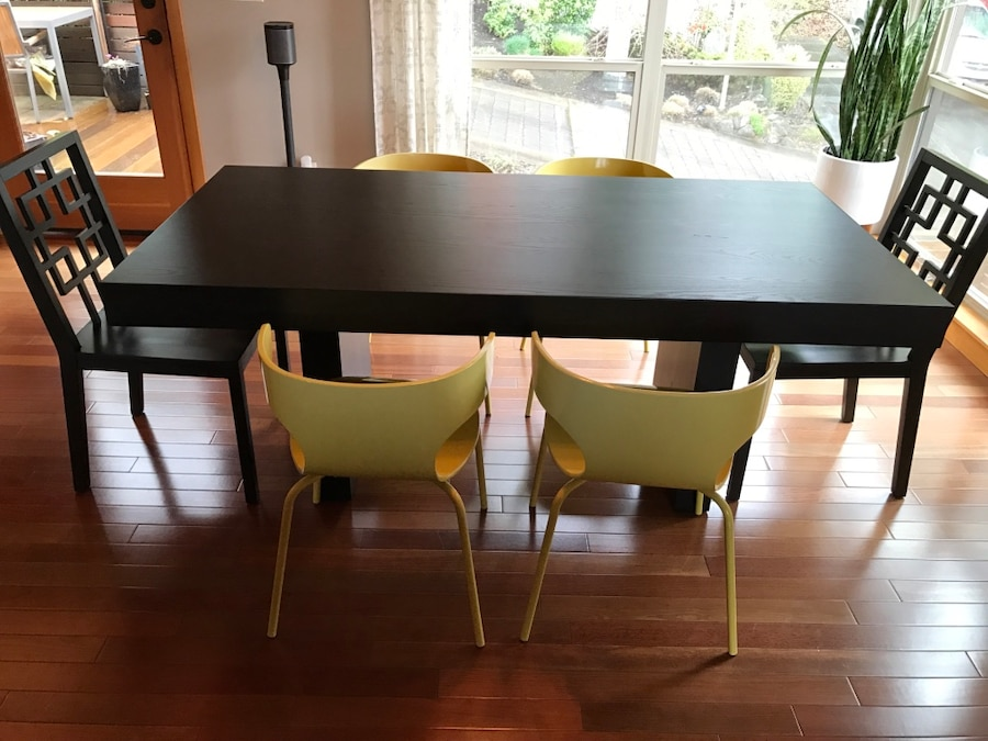 Letgo 6 chair dining set west elm in portland or for West elm table setting