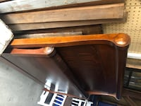 1920s Full-Size Antique Sleigh Bed Palmyra