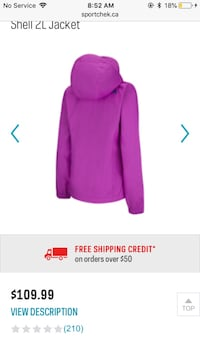 Purple North face coat null, B2T 1H1