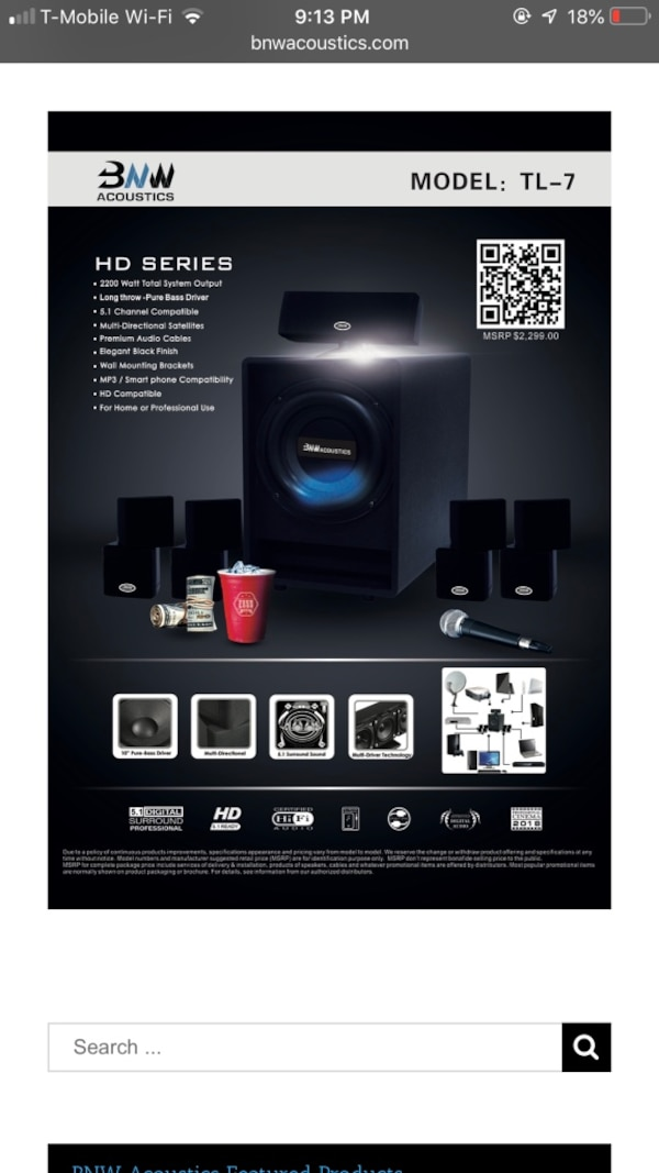 BNW Acoustics Home Theater System