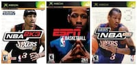 Xbox One Basketball Video Games (NBA 2K2 -NBA 2K3 -ESPN NBA 2K4) Toronto, M6N 3V9