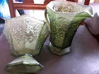 Old green pitcher and candy dish Sevierville, 37876