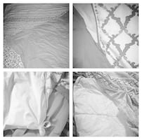 Beautiful duvet and zip cover with matching pillow cases.