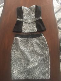 Women's black and grey top and skirt Vaughan, L4J 9H7