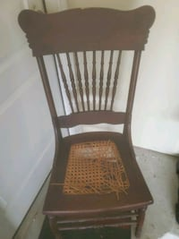 Antique chair sturdy need cane bottom repair