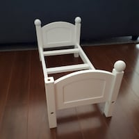 Maplea White Wood Doll Bed for 18 Inch Doll  Pitt Meadows