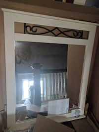 white and black wooden wardrobe with mirror Niagara Falls, L2G 1Y6