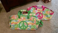 Peace sign duffle bags with wheels Woodstock, 21163