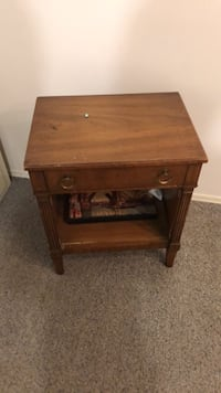 brown wooden single-drawer end table Langley, V3A 3A2