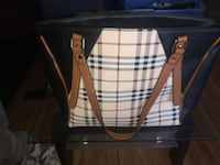 black and brown leather tote bag Ottawa