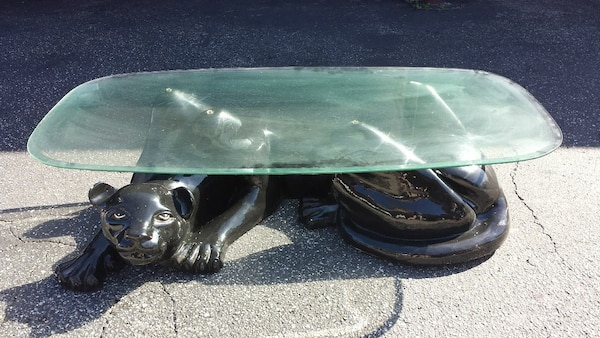 Used Black Panther Coffee Table For Sale In Hawthorne Letgo - Panther coffee table