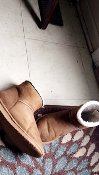 Brown suede 2-seat sofa