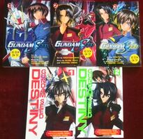 Mobile Suit Gundam Seed + MS Gundam Seed Destiny - 5 books