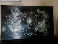Mother of pearl Asian wall art