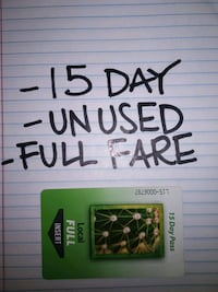 VALLEY METRO 15 DAY FULL FARE TRANSIT PASS Phoenix, 85021