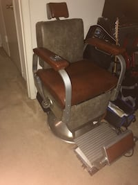 1961 Theo A. Koch Barber Chair fully reupholstered and custom armrest Temple Hills, 20748