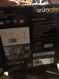 Orumrohn wireless home theater R201 Regina, S4V