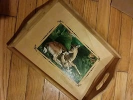Mother and baby deer tray