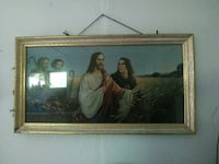 brown wooden framed painting of man and woman Bluefield, 24701