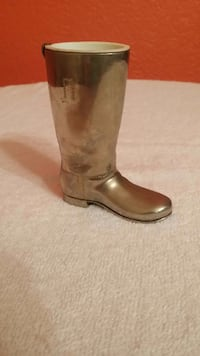 Vintage Grenadier England silver plated boot Toothpick holder