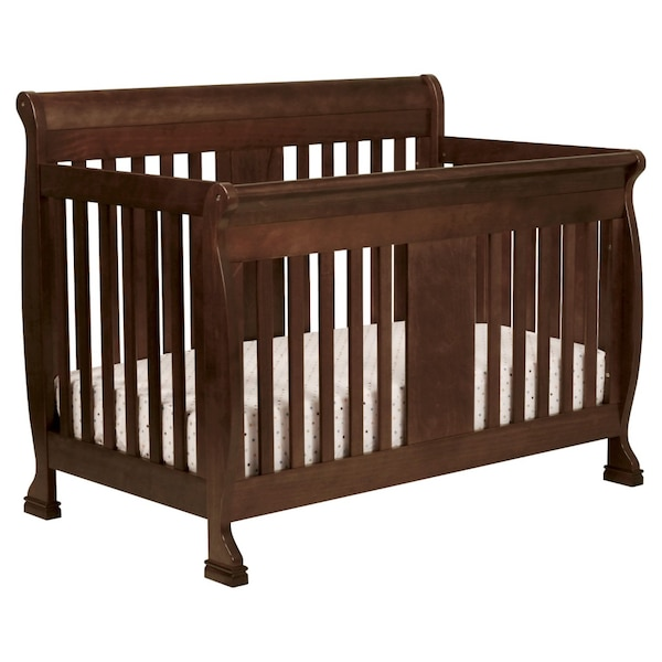 Begagnad 4 In 1 Convertible Sleigh Bed Crib Barely Used In Great