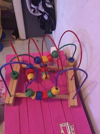 multicolored wire maze toy